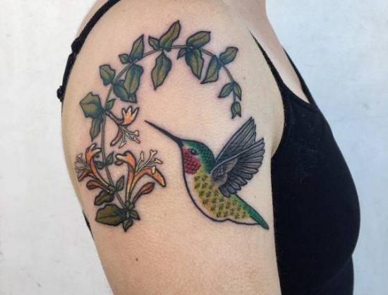 Ongekend Kolibrie tattoo: betekenis en 30 ideeën WG-76