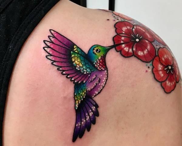 Onwijs Kolibrie tattoo: betekenis en 30 ideeën NM-45
