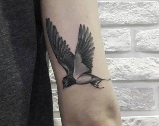 Hedendaags Zwaluw tattoo: betekenissen en 30 tattoo ideeën HS-98