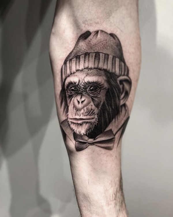 Betekenissen & inspiratie Dieren  Aap tattoo: betekenis en 40x tattoo-inspiratie