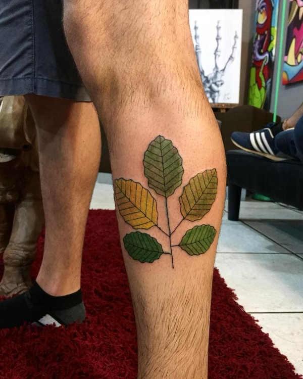 Betekenissen & inspiratie Bloemen  Blad tattoo: betekenis en 50x tattoo-inspiratie