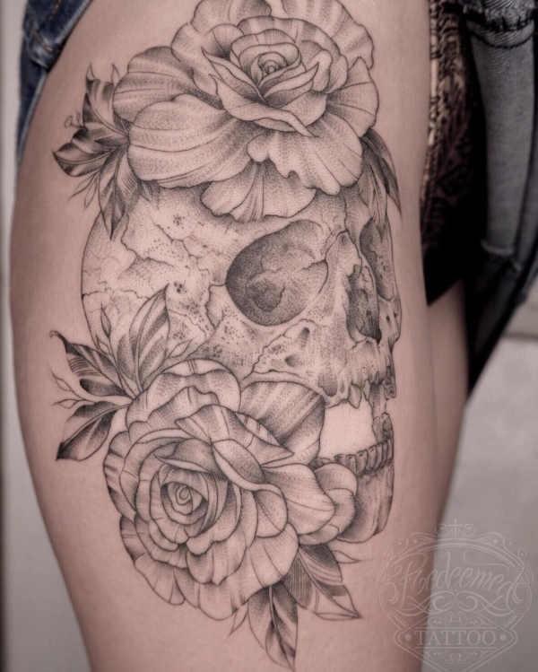 Plaatsen  Dij tattoos: 150x tattoo-inspiratie