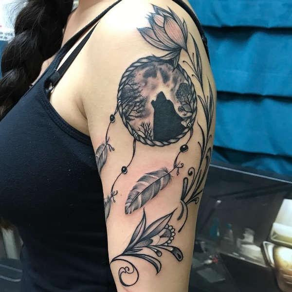 Iets Nieuws Dromenvanger (dreamcatcher) tattoo: betekenis en 50 tattoo ideeën #EF62