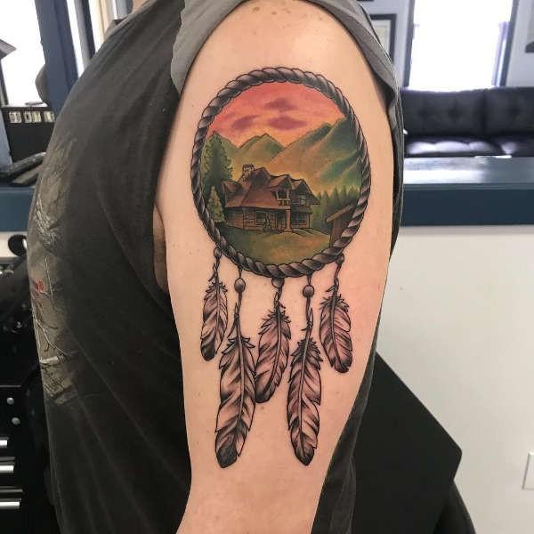 Geliefde Dromenvanger (dreamcatcher) tattoo: betekenis en 50 tattoo ideeën #CB87