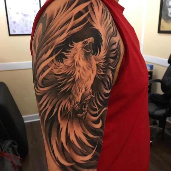 Hedendaags Betekenis Van Veren Tattoos UO-16