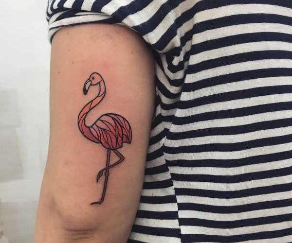 Betekenissen & inspiratie Dieren  Flamingo tattoo: betekenis en 35x tattoo-inspiratie