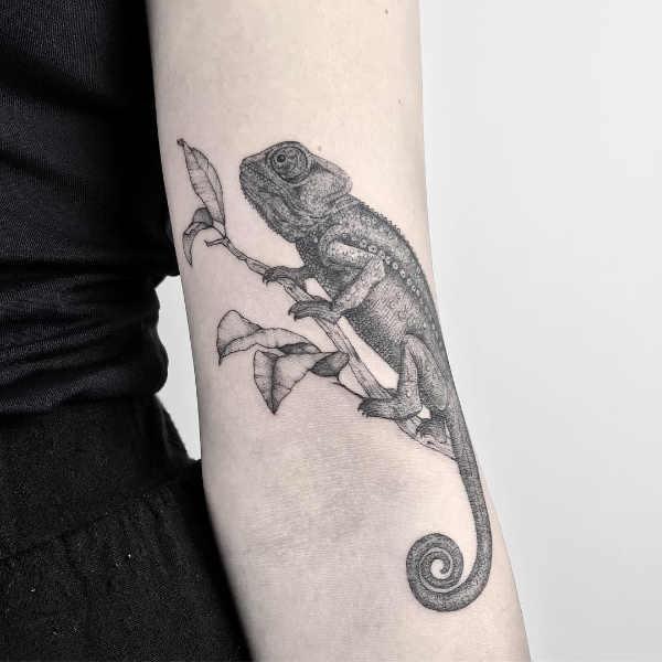 Betekenissen & inspiratie Dieren  Hagedis tattoo: betekenis en 30x tattoo-inspiratie