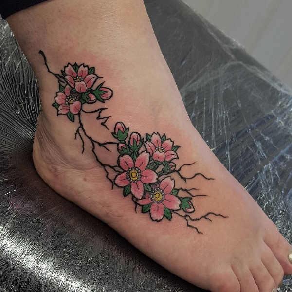 Betekenissen & inspiratie Bloemen  Kersenbloesem tattoo: betekenis en 25x tattoo-inspiratie