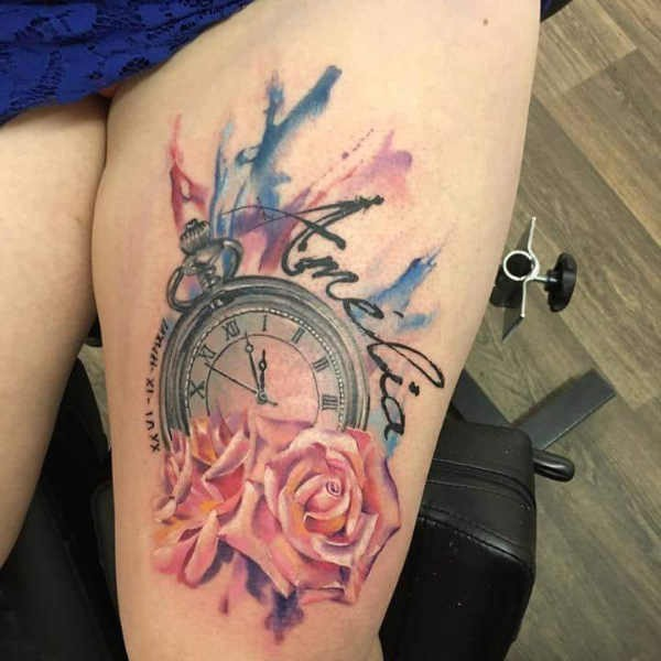 Betekenissen & inspiratie  Klok tattoo: betekenis & 50 tattoo ideeën