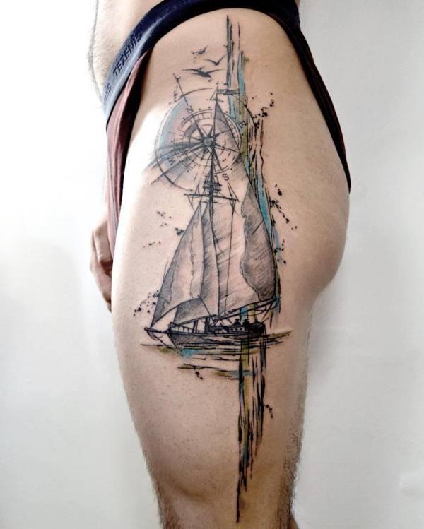Betekenissen & inspiratie  Kompas tattoo: betekenis en 60 ideeën ter inspiratie