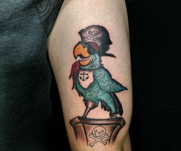 Betekenissen & inspiratie Dieren  Papegaai tattoo: betekenis en 30x tattoo-inspiratie