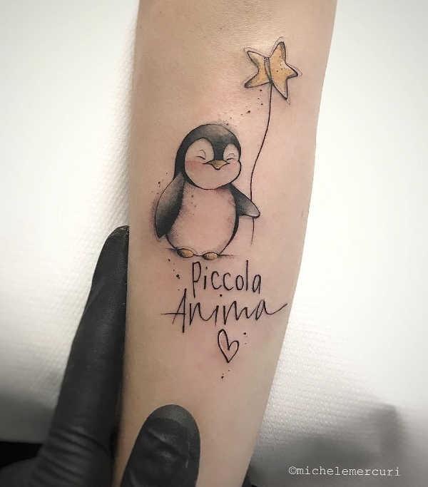 Betekenissen & inspiratie Dieren  Pinguïn tattoo: betekenis en 25x tattoo-inspiratie