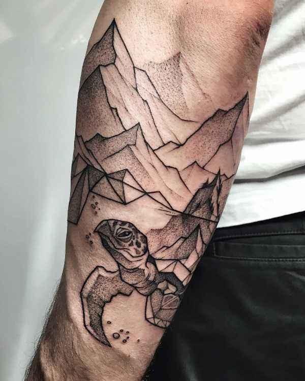 Betekenissen & inspiratie Dieren  Schildpad tattoo: betekenis en 30x tattoo-inspiratie
