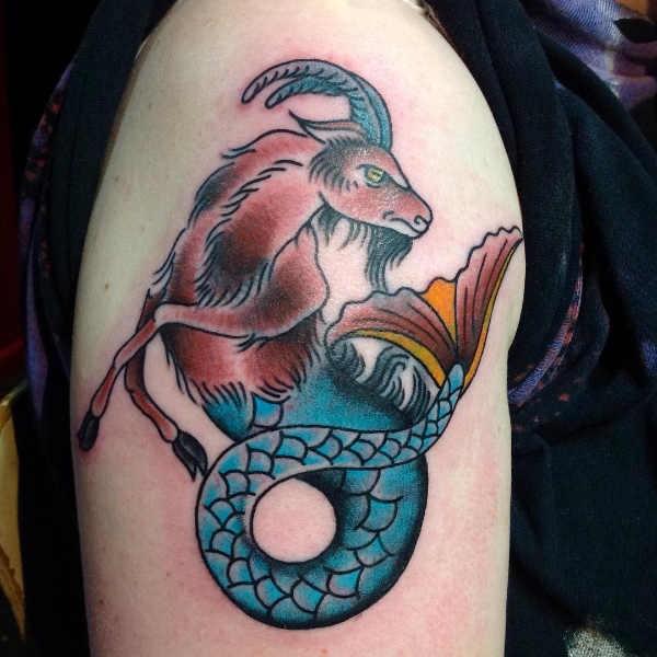 Betekenissen & inspiratie Sterrenbeelden-tatoeages  Steenbok tattoo: betekenis en oorsprong & 30x tattoo-inspiratie
