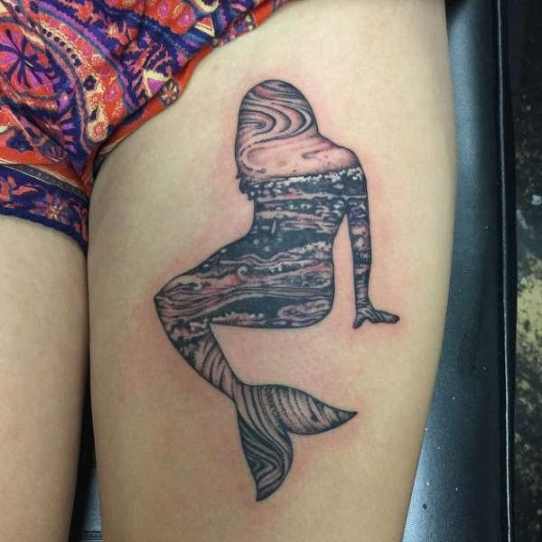 Betekenissen & inspiratie  Zeemeermin tattoo: betekenis & 42 tattoo ideeën
